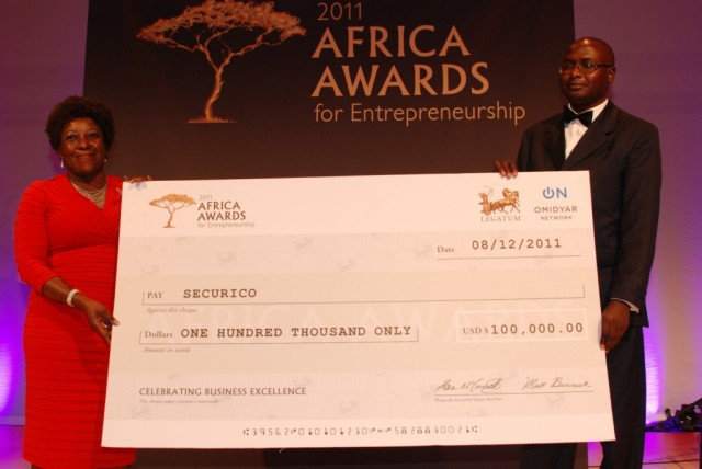 SECURICO Wins $100,000 Grand Prize in 2011 AFRICA AWARDS For Entrepreneurship